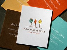 Food Stylist Business Cards