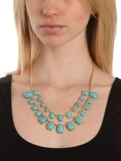 Tiered Turquoise Bib - Necklaces - Categories - Shop Jewelry   BaubleBar