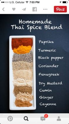 Homemade Thai Seasoning is an entertaining, exotic blend of spices that . - Homemade Thai Seasoning is an entertaining, exotic blend of spices that recipes … – - Thai Seasoning, Seasoning Mixes, Stir Fry Seasoning, Seasoning Recipe, Homemade Spices, Homemade Seasonings, Homemade Spice Blends, Spices And Herbs, Spice Mixes