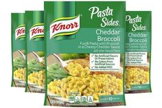 Knorr Pasta Sides Cheddar Broccoli as low as $0.84 per Pouch! Cheddar Broccoli Rice, Broccoli Pasta Bake, Rice Pasta, Pasta Side Dishes, Pasta Sides, Cheddar Cheese Sauce, Baked Pasta Recipes, Broccoli Florets, Fusilli