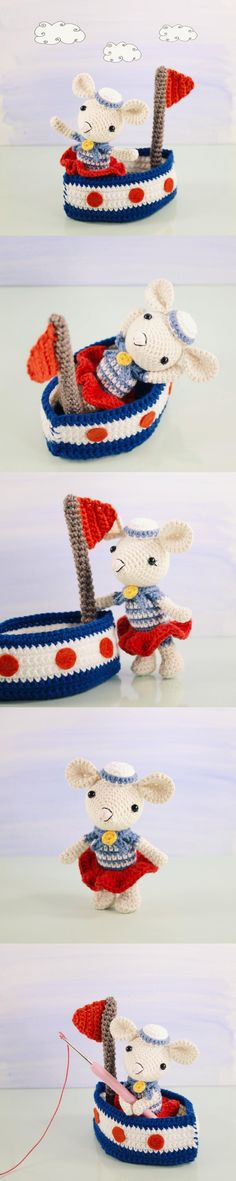 Saltee And Her Sail Boat Amigurumi Pattern