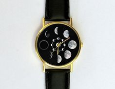 Hey, I found this really awesome Etsy listing at https://www.etsy.com/listing/203613517/moon-phases-watch-unisex-watch-ladies