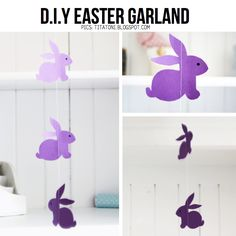 DIY Easter Garland, featured in round-up of Easy Easter DIY on ScrapHacker.com