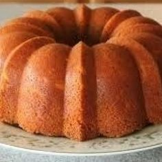 The perfect, buttery pound cake!