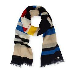 University stripe scarf