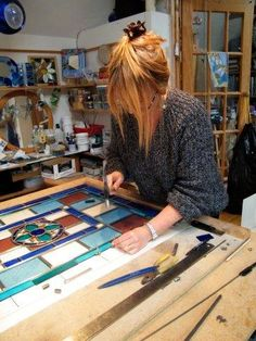South Lincolnshire based Stained Glass Artist Cathi Prince is participating in ESC Artists Autumn events at Stamford Arts Centre. Art Event, Collaborative Art, Artist, Stained Glass, Glass Artists
