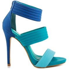 Shoe Republic Women's Jolamda - Blue ($55) ❤ liked on Polyvore featuring shoes, sandals, heels, blue, saltos, high heel sandals, sexy high heel sandals, heeled sandals, strap sandals and blue shoes