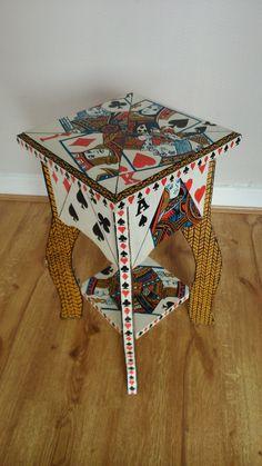 Poker pattern side table.