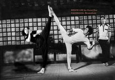 Bruce Lee And Daughter Shannon Lee... Standing Side Kick.