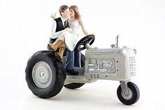 Tractor Western Wedding Cake Topper
