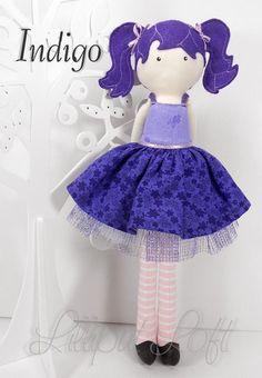 Indigo, from my 'inspired by Strawberry Shortcake' range of Pretty Poppet Dolls. © Lilliput Loft 2012