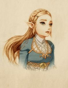 Okay that's a good one if her! She usually looks too cute and not beautiful in fanart. She is a nerdy passionate strong person. Not typical Zelda regal wisdom, but scientifically curious! Good for her, being a truly different Zelda in her own right.