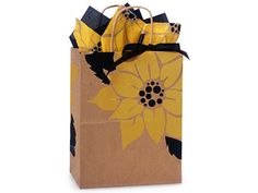 """SUNFLOWER GIFT shopping bags (CUB 8X4X10"""") 250 ct #ANYOCCASION"""