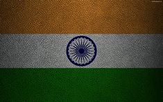 Indir duvar kağıdı Hindistan bayrağı, 4k, deri dokusu, Hint bayrak, Asya, dünya bayrakları, Hindistan