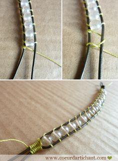 Bracelet bohème (wrap bracelet), techniques et astuces par Coeur d'artichaut©