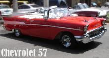 Chevrolet 57 convertible. Red color