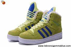 Star's favorite Adidas X Jeremy Scott Big Tongue Anti Fur Winter Shoes Yellow Basketball Shoes Store
