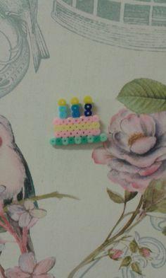#Mini #Tarta de cumpleaños #Hama #Beads