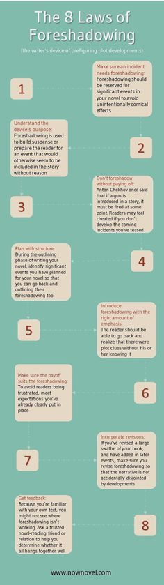 The 8 laws of Foreshadowing