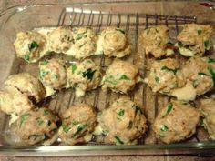 SCD Spinach Parmesan Chicken Meatballs (*Use fresh garlic...)