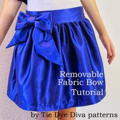 Tie Dye Diva Patterns: Tutorial - How to Make a Big, Removable Fabric Bow