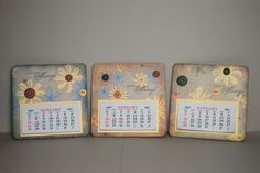 Coaster Calendars by mtnstamper - Cards and Paper Crafts at Splitcoaststampers