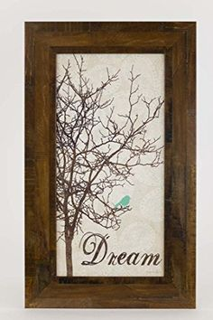 Dream Tree Restoration Restored Bird Tree Blue Framed Art Decor 10x16 >>> Continue to the product at the image link. (Note:Amazon affiliate link)