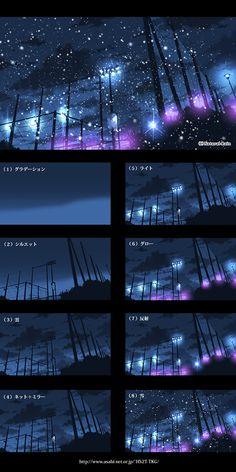 「▼背景メイキング集(オリジナル)」/「☂NR」の漫画 [pixiv]