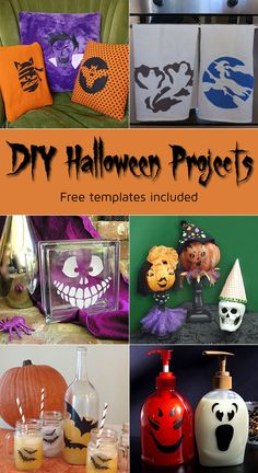 Tons of #DIY ideas for #Halloween decor. Last minute projects too! Templates included!!