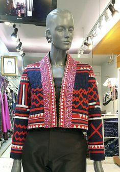 เสื้อคลุมใยกัญชงเขียนเทียนปักม้ง by SIRINI Blazer, Couture, Pattern, Jackets, Tops, Dresses, Women, Fashion, Stuff Stuff