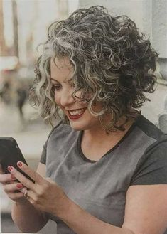 Short-Curly-Hair-Older-Women Popular Short Curly Hairstyles 2018 – 2019 . - Short-Curly-Hair-Older-Women Popular Short Curly Hairstyles 2018 – 2019 Short-Curly-Hair-O - Curly Hair Styles, Grey Curly Hair, Curly Hair Cuts, Curly Bob Hairstyles, Trendy Hairstyles, Short Hair Cuts, Natural Hair Styles, Hairstyles 2018, Natural Curls