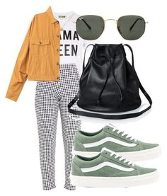 """""""CUTE OUTFIT ON A BUDGET"""" by directioner91 ❤ liked on Polyvore featuring Love, Vans and Ray-Ban"""