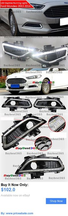Motors Parts And Accessories: 2X White Led Drl Driving Daytime Running Light Fog Lamp For Ford Fusion Mondeo BUY IT NOW ONLY: $102.0 #priceabateMotorsPartsAndAccessories OR #priceabate