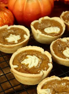 Super easy mini pumpkin pies! We added a little garnish on the top and they are PERFECT for a party or a family dinner. They are sure to impress!