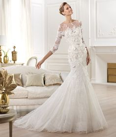 Elie Saab � Wedding Gowns 2014 Lace Mermaid Dress... it's just gorgeous