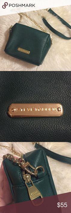 823b45deb00 Steve Madden Crossbody Bag Dark green leather Steve Madden crossbody