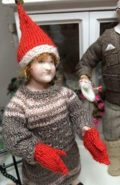Joulunpunaiset lapaset ❤️ ja tonttuhattu