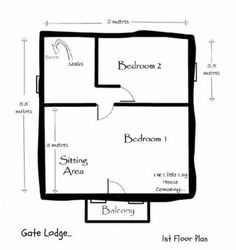 This is the stunning Gate Lodge Tiny House by the Little Log House Company. It has two upstairs bedrooms and a balcony! Check it out! Tiny House Talk, Tiny House Plans, Tiny House Design, Tiny House On Wheels, Small Log Cabin, Little Cabin, Small Cabins, Log Cabins, Bedroom Reading Nooks