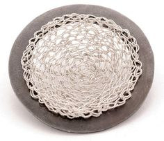Brooch sterling silver handmade contemporary by InesSobreiraJoias