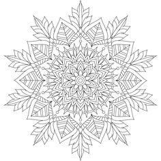 This is Winter Soul, one of over 100 printable mandalas for you to color. :) https://mondaymandala.com/m/winter-soul?utm_campaign=sendible-pinterest&utm_medium=social&utm_source=pinterest&utm_content=winter-soul