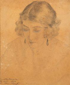 jeune turque pensive by alexandre roubtzoff