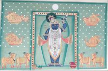 Shrinathji 3 traditional art by Pichwai Art | ArtZolo.com