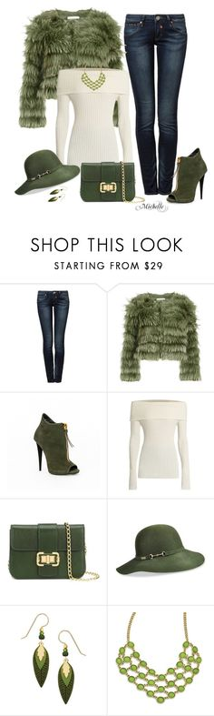 """Green with Envy"" by michellesherrill ❤ liked on Polyvore featuring Herrlicher, Alice + Olivia, The Row, Monique Lhuillier, Betmar, Sienna Sky and 1928"