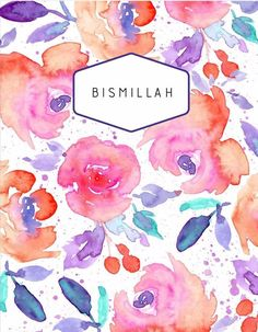 Bismillah Notebook - Elegant Beauties A5 Notebook, Paper Roses, Beauty Quotes, Stationery, Elegant, Floral, Flowers, Gifts, Inspiration
