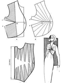 The best DIY projects & DIY ideas and tutorials: sewing, paper craft, DIY. DIY Women's Clothing : Twisted knot on bodice -Read Techniques Couture, Sewing Techniques, Diy Clothing, Sewing Clothes, Dress Sewing Patterns, Clothing Patterns, Pattern Draping, Bodice Pattern, Modelista