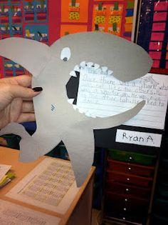 Ocean Unit- Shark writing activity