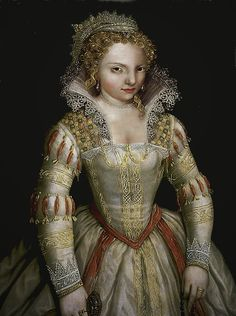 MARGUERITE DE VALOIS (1553-1615) - Queen of Navarre 1572 and Queen of France 1589 - married to HENRI IV DE BOURBON - daughter of HENRI II DE VALOIS & CATHERINE DE MEDICI