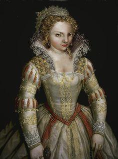 MARGUERITE DE VALOIS (1553-1615) - Queen of Navarre 1572 and Queen of France 1589 - married to HENRI IV DE BOURBON - daughter of HENRI II DE VALOIS & CATHERINE DE MEDICI