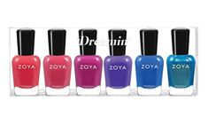 Zoya Dreamin' Summer 2021 Collection   BeautyStat.com Zoya Nail Polish, Fruit Punch, Pacific Blue, Cool Tones, Blue Cream, Looking Gorgeous, Manicure, Nails, Green And Gold