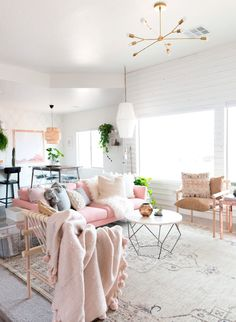 Muebles de decoración rosa